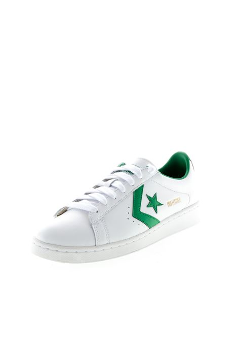 CONVERSE SNEAKER PRO LEATHER BIANCO/VERDE CONVERSE | Sneakers | 167971CPRO LEATHER-WHT/GREEN