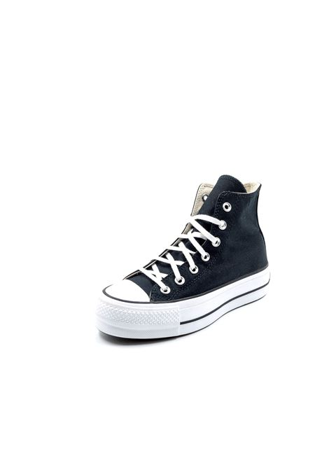 CONVERSE SNEAKER MID PLATFROM CHUCK TAYLOR NERO CONVERSE | Sneakers | 560845CCHUCK TAYLOR-BLK/WHT