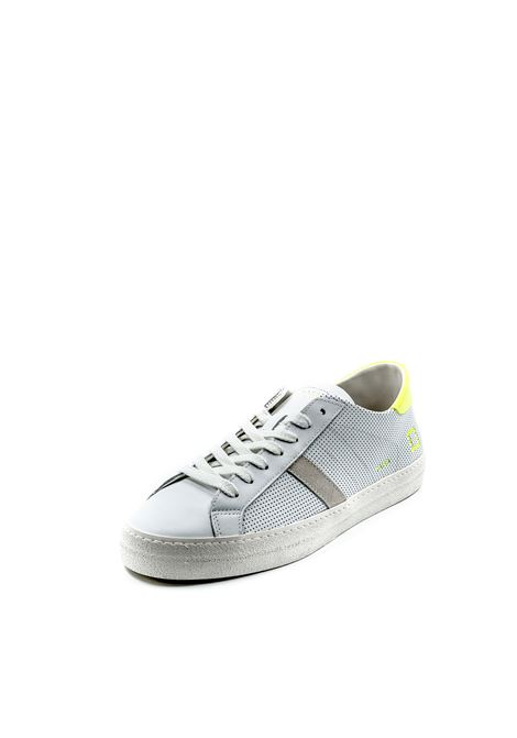 D.a.t.e. sneaker hill low bianco/fluo DATE | Sneakers | HILL LOWFLUO PERF-WHT/YELL