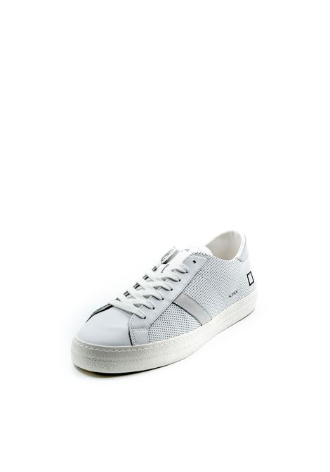 D.a.t.e. sneaker hill low vintage bianco/argento DATE | Sneakers | HILL LOWVINTAGE PERF-WHT/SILVER