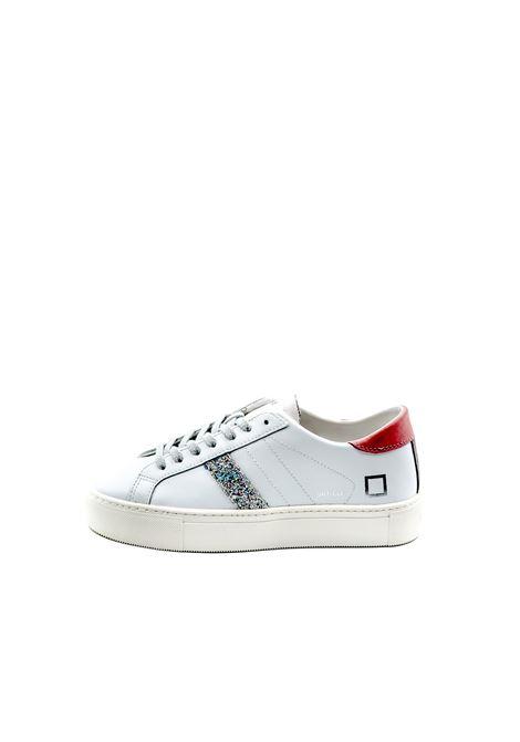 D.a.t.e. sneaker vertigo pelle bianco/rosa DATE | Sneakers | VERTIGOCALF-WHITE/PINK