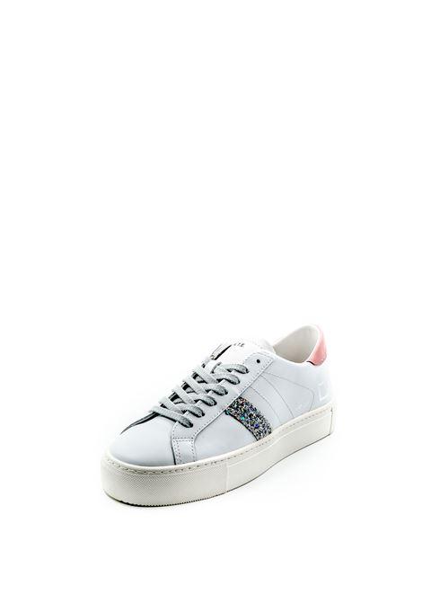 D.a.t.e. sneaker vertigo pelle bianco/rosa D.A.T.E | Sneakers | VERTIGOCALF-WHITE/PINK