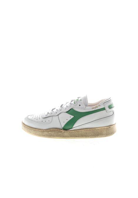 Diadora Heritage Mi Basket bianco/verde DIADORA HERITAGE | Sneakers | 176282MI BASKET-C8451