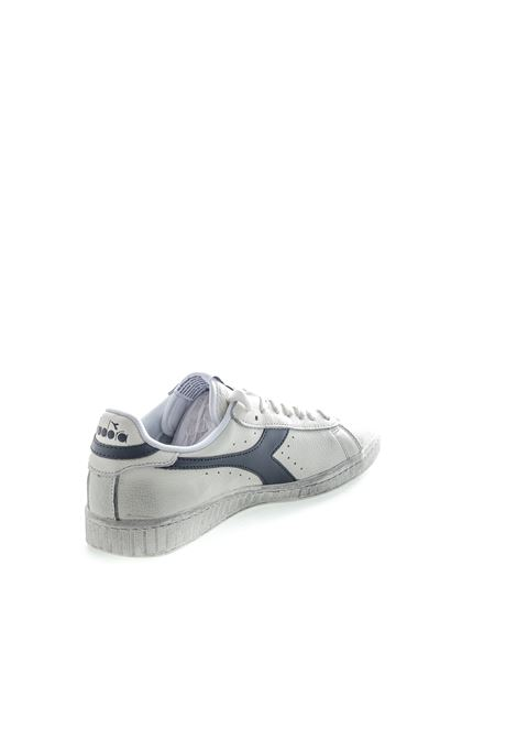 DIADORA SNEAKER LOW WAXED BIANCO/BLU DIADORA LIFESTYLE | Sneakers | 160821GAME L WAXED-C5262