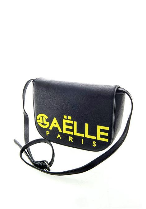 GAELLE TRACOLLA PRINTED LOGO NERO/GIALLO GAELLE | Borse mini | 1513PELLE-NERO