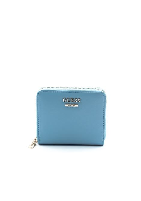 Guess portafoglio mini tangey azzurro  GUESS | Portafogli | UE7664370TANGEY-SKY