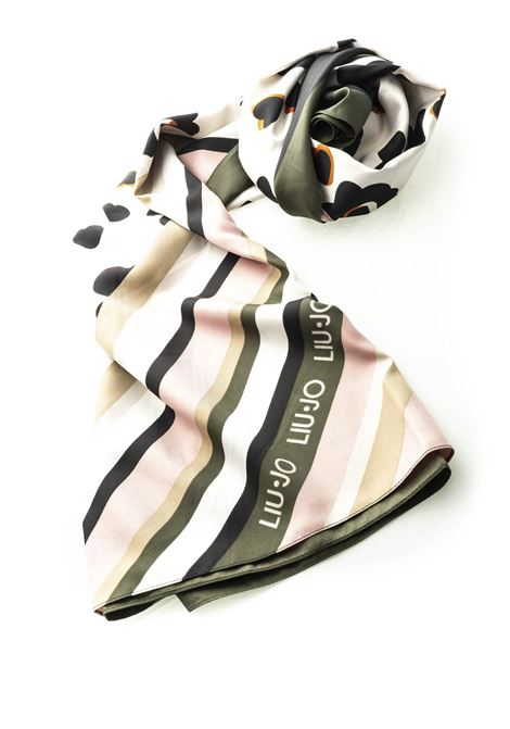 LIU JO FOULARD FLOWER POP BIANCO LIU JO | Foulards | 2A0019T03002A0019T0300