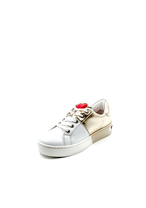 LOVE MOSCHINO SNEAKER BIANCO/ORO LOVE MOSCHINO | Sneakers | 15013PELLE-10A