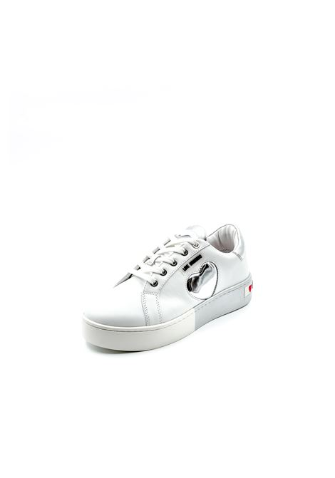 Love Moschino sneaker bianco/argento LOVE MOSCHINO | Sneakers | 15023PELLE-10B