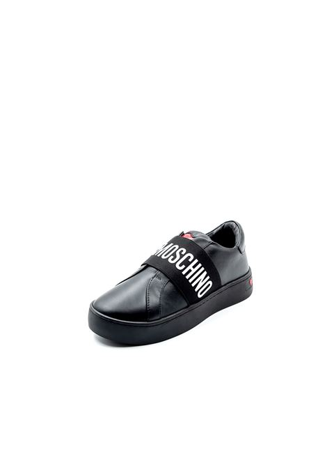 Love Moschino sneaker slipon nero LOVE MOSCHINO | Sneakers | 15043PELLE-000