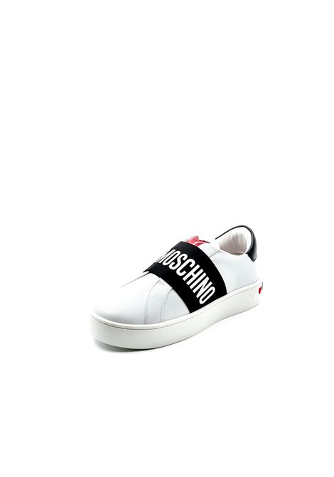 Love Moschino sneaker slipon bianco LOVE MOSCHINO | Sneakers | 15043PELLE-10A
