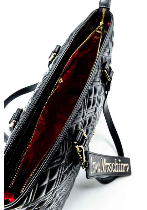 LOVE MOSCHINO ZIP LOGO METAL NERO LOVE MOSCHINO | Borse a spalla | 4001TRAP-000