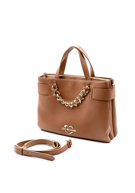 Shopping tracolla Heart Chain cuoio LOVE MOSCHINO | Borse a mano | 4038PELLE-200