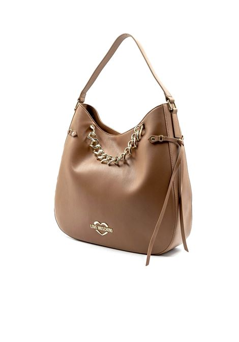 LOVE MOSCHINO HOBO HEART CHAIN CUOIO LOVE MOSCHINO | Borse a spalla | 4041PELLE-200