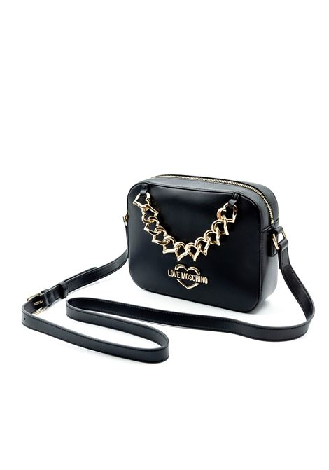 LOVE MOSCHINO TRACOLLA HEART CHAIN NERO LOVE MOSCHINO | Borse mini | 4253PELLE-000