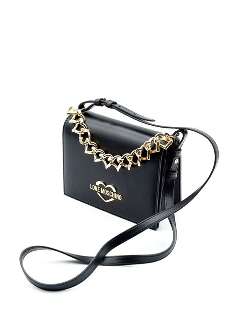 LOVE MOSCHINO POCHETTE HEART CHAIN NERO LOVE MOSCHINO | Borse mini | 4257PELLE-000