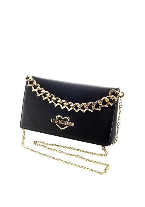 LOVE MOSCHINO TRACOLLA METAL HEART NERO LOVE MOSCHINO | Borse mini | 4259PELLE-000
