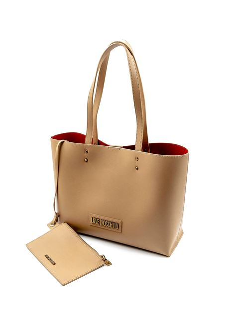 LOVE MOSCHINO SHOPPING LOGO METAL CUOIO LOVE MOSCHINO | Borse a spalla | 4262PELLE-201