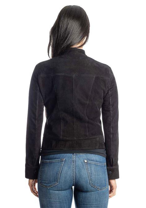 Giacca camoscio nero PK BY PASKAL | Giubbini in pelle | R361CAM-NERO