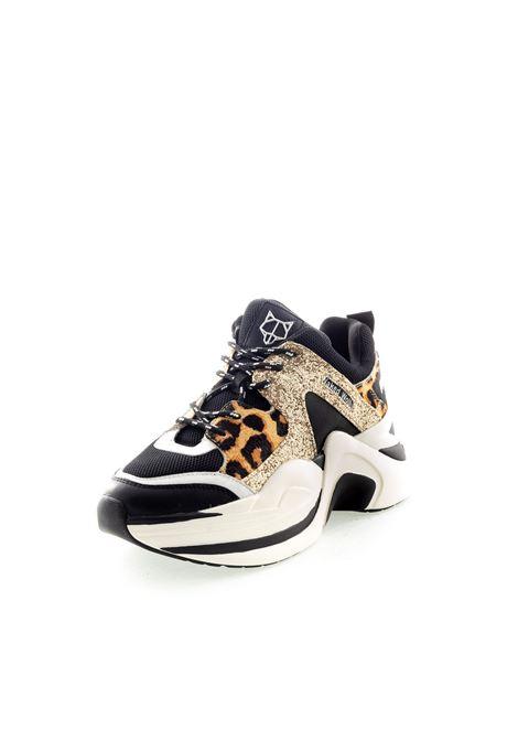 Sneaker Track nero/oro NAKED WOLFE | Sneakers | TRACKPELLE/GLITT-BLACK/GOLD