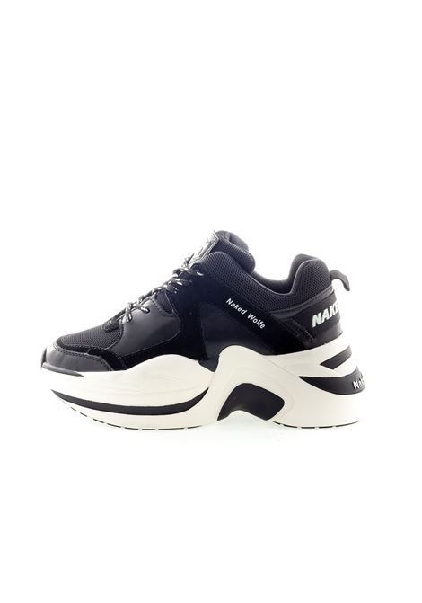 Sneaker Track nero NAKED WOLFE   Sneakers   TRACKTESS/PELLE-BLACK/WHT