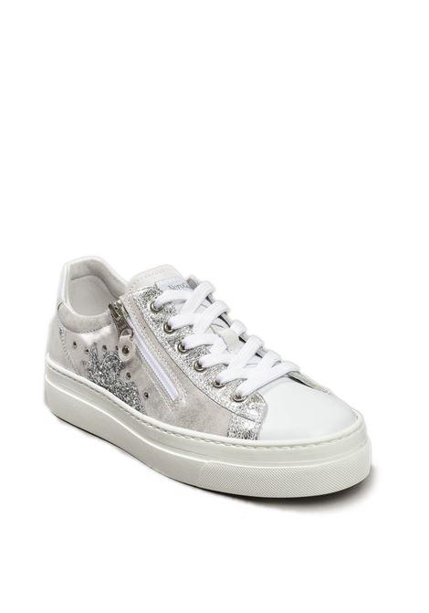 Sneaker skipper metal bianco NERO GIARDINI | Sneakers | 010660SKIPPER-707