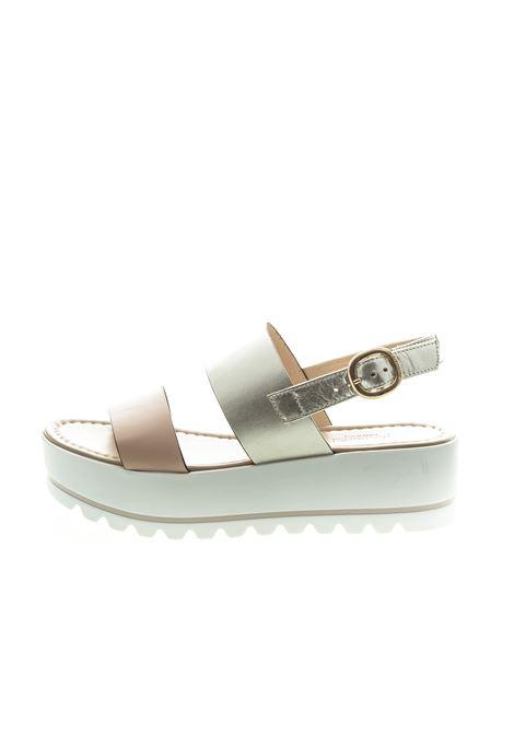 Sandalo platform 50mm cipria/platino NERO GIARDINI | Sandali flats | 012581ARMENIA-614