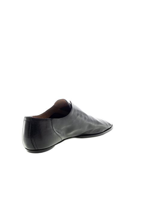 Spuntato pelle nero POESIE VENEZIANE | Sandali flats | TAR1231VELVET-NERO