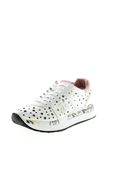PREMIATA SNEAKER CONNY FORATA BIANCO PREMIATA | Sneakers | CONNYPELLE-4728