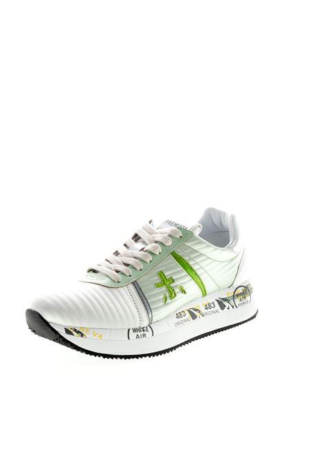 PREMIATA SNEAKER CONNY RASO BIANCO/VERDE PREMIATA | Sneakers | CONNYRASO-4509