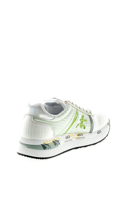 PREMIATA SNEAKER CONNY RASO BIANCO/VERDE PREMIATA   Sneakers   CONNYRASO-4509