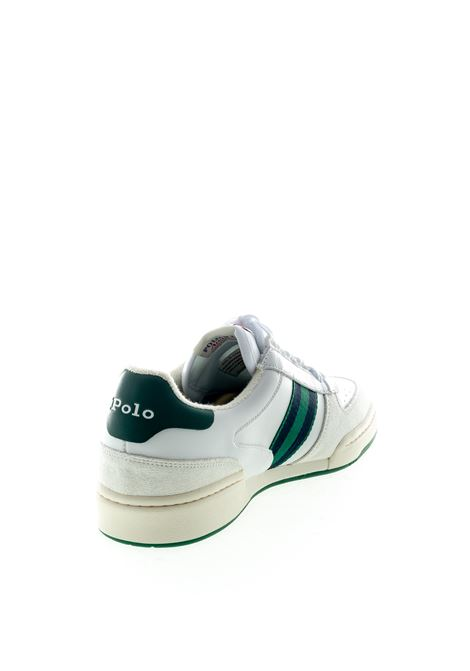 RALPH LAUREN SNEAKER BIANCO/VERDE RALPH LAUREN | Sneakers | 809784401POLO COURT-002