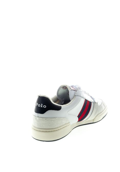SNEAKER COURT BIANCO/ROSSO RALPH LAUREN | Sneakers | 809784401POLO COUT-001