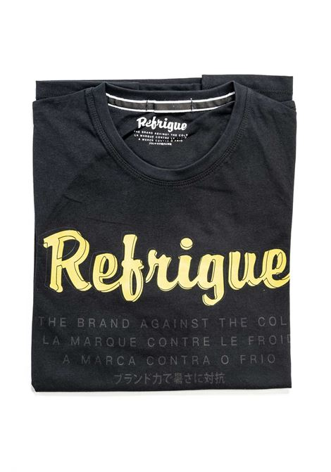 REFRIGUE T-SHIRT LETTERING NERO REFRIGUE | T-shirt | 45110JERSEY-001