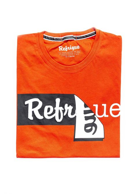 REFRIGUE T-SHIRT LABEL ROSSO REFRIGUE | T-shirt | 45113JERSEY-006