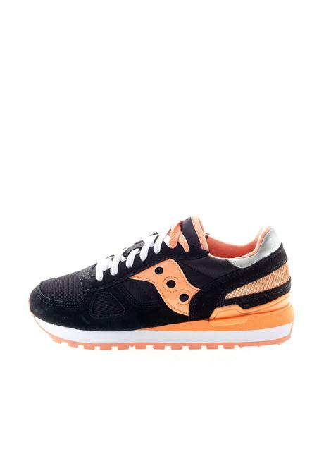SAUCONY SNEAKER SHADOW NERO/ARANCIONE SAUCONY | Sneakers | 1108SHADOW-737