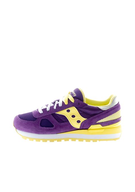 SAUCONY SNEAKER SHADOW VIOLA/GIALLO SAUCONY | Sneakers | 1108SHADOW-741