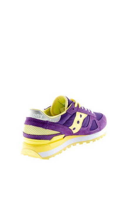 SAUCONY SNEAKER SHADOW VIOLA/GIALLO SAUCONY | Sneakers | 1108SHADOW-741