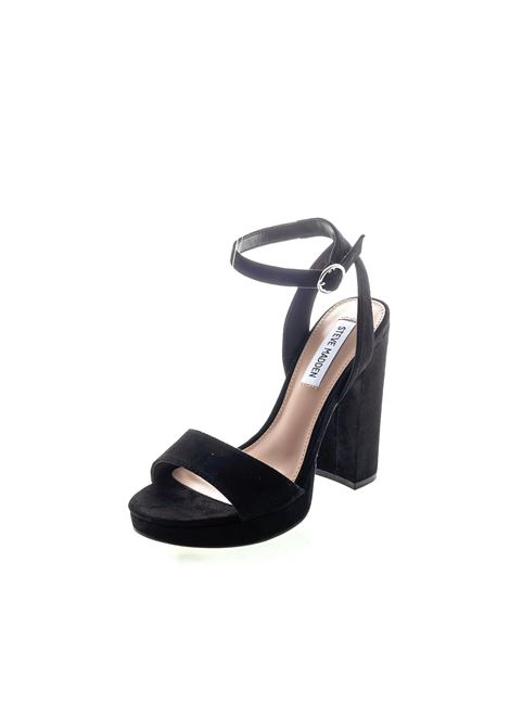 Sandalo Gesture camoscio nero tacco120 STEVE MADDEN | Sandali | GESTURESUEDE-BLACK