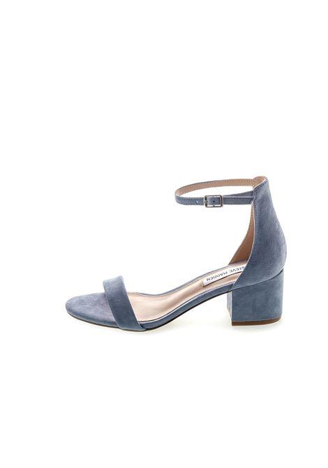 Sandalo Irenee camoscio azzurro tacco 60 STEVE MADDEN | Sandali | IRENEESUEDE-BLUE