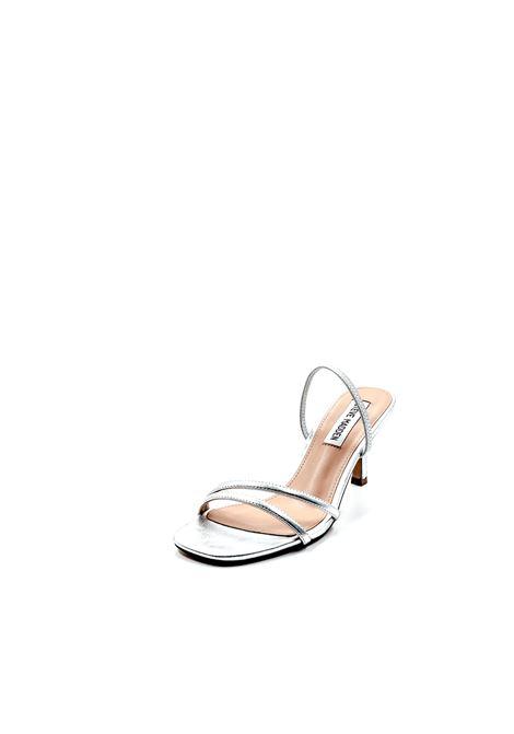 Sandalo Loft argento tacco 70 STEVE MADDEN | Sandali | LOFTMETALLIC-SILVER