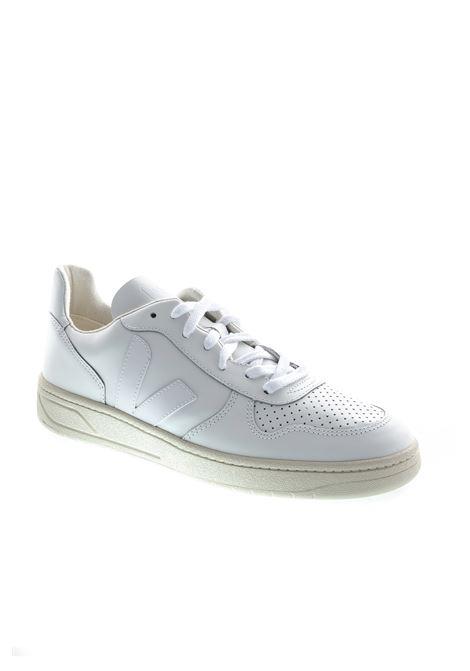VEJA SNEAKER V10 BIANCO VEJA | Sneakers | V10LEATHER-21270