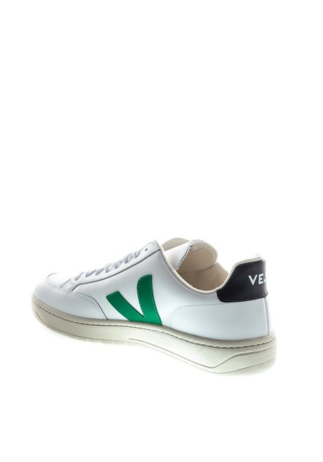 VEJA SNEAKER V12 BIANCO/VERDE VEJA | Sneakers | V12LEATHER-21928