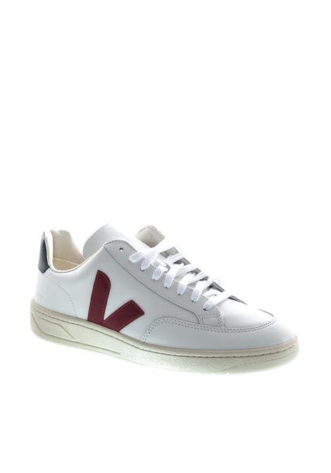 VEJA SNEAKER V12 BIANCO/BORDEAUX VEJA | Sneakers | V12LEATHER-21955