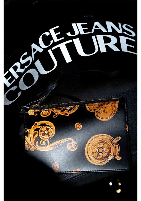 VERSACE JEANS COUTURE SHOPPING REVERSIBILE NERO/ORO VERSACE JEANS COUTURE | Borse a spalla | BB5071501-M27