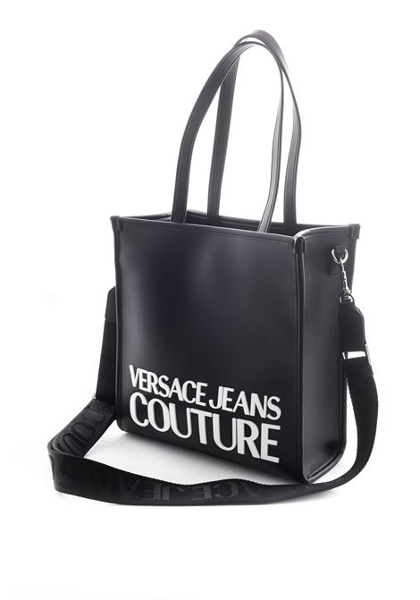 VERSACE JEANS COUTURE SHOPPING MEDIUM MACROLOGO NERO VERSACE JEANS COUTURE | Borse a spalla | BM371413-899
