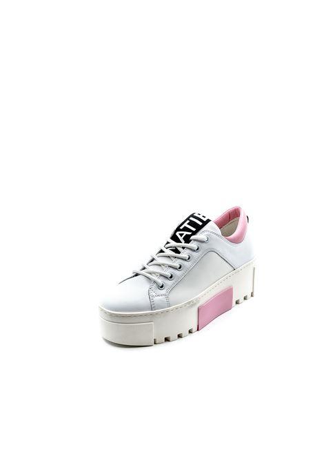 VIC MATIÉ SNEAKER PLATFORM BIANCO/ROSA VIC MATIÈ | Sneakers | 8324PELLE-102/104