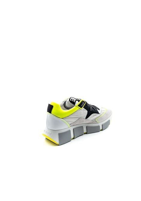 VIC MATIÉ SNEAKER NYLON BIANCO/GIALLO VIC MATIÈ   Sneakers   8334CAM/NYL-102/110/215