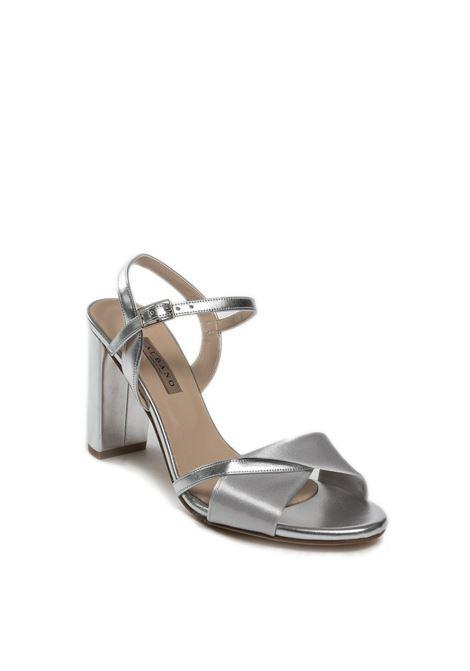 Sandalo metal raso argento ALBANO | Sandali | 4004MET/RASO-ARGENTO