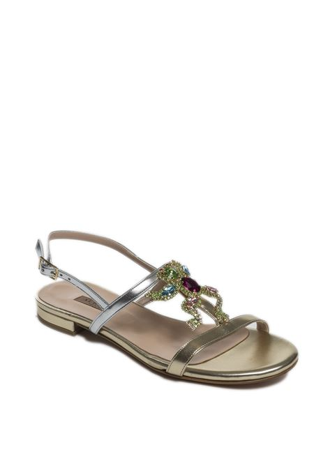 Sandalo gioiello platino ALBANO | Sandali flats | 4263MET-PLAT/ARG